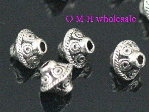 OMH Wholesale Free Ship 30pcs Tibetan Silver Findings Spacer Beads Jewelry Metal Beads 30X7mm ZL148