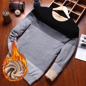 Image 2 - Varsanol איש סוודר כותנה ארוך שרוול סוודרים סרוגים גברים V צוואר סוודר חולצות סריגים פסים Slim Fit סוודרים חמים חדש