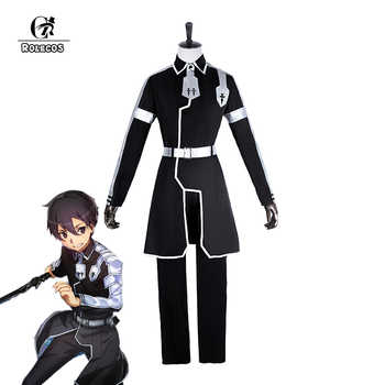 ROLECOS Japanese Anime Sword Art Online Cosplay Kirito Cosplay Costume Kazuto Kirigaya Full Set Men Uniform Cosplay Costumes - Category 🛒 Novelty & Special Use