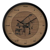 Piano Simple Modern Metal Wall Clock Silent Unique Watch Wall Gift Ideas Woonkamer Decoratie Home Decoration Accessories 40C027