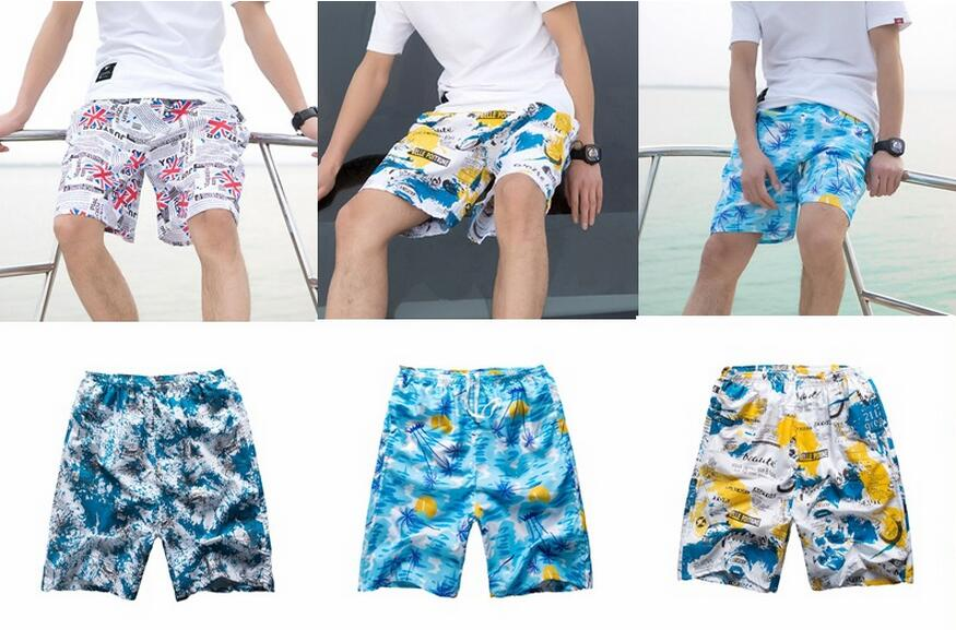 Wholesale Quick-Drying Men's Print Board Shorts Surf Short Pants Swim Beachwear Beach Shorts