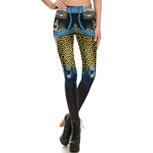 1681 Fitness Elastic Women Leggings Sexy Girl Polyester Slim Fit Workout Pants Trousers Blizzard Game OW Hanzo Scale Printed