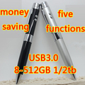 5in1 100% Real Capacity Usb Flash Drive 3.0 High Speed 8GB-32GB Pendrive 64GB 128GB 512GB Memory Stick Flash Card 1TB 2TB Gift