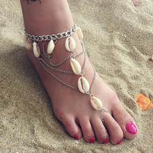 Boho Beach Multilayer Shell Anklet Silver Bracelet For Women Fashion Charms Ankle Bracelet Chain Jewelry Accessories Wholesale цена