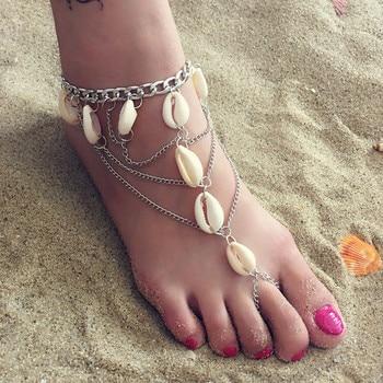 Vintage Boho Shell Jewelry Multilayer Shell Anklets For Women Bracelet Shell Leg Bracelet 2019 DIY Jewelry Accessories Wholesale 3