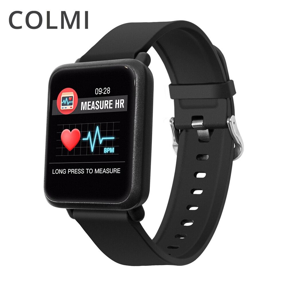 COLMI M28 Montre Intelligente Grand Écran Moniteur de Fréquence Cardiaque La Pression Artérielle D'oxygène SPO2 Multi Sport Mode De Bain Smartwatch