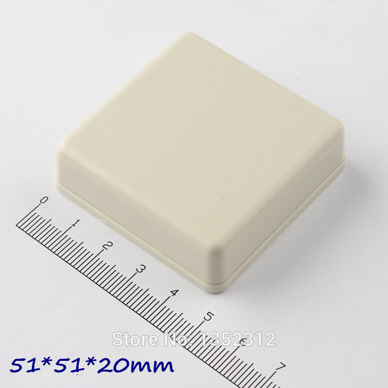 20 pcs/lot 51*51*20mm housing DIY IP54 waterproof small plastic enclosure for electronic abs distribution box switch box image