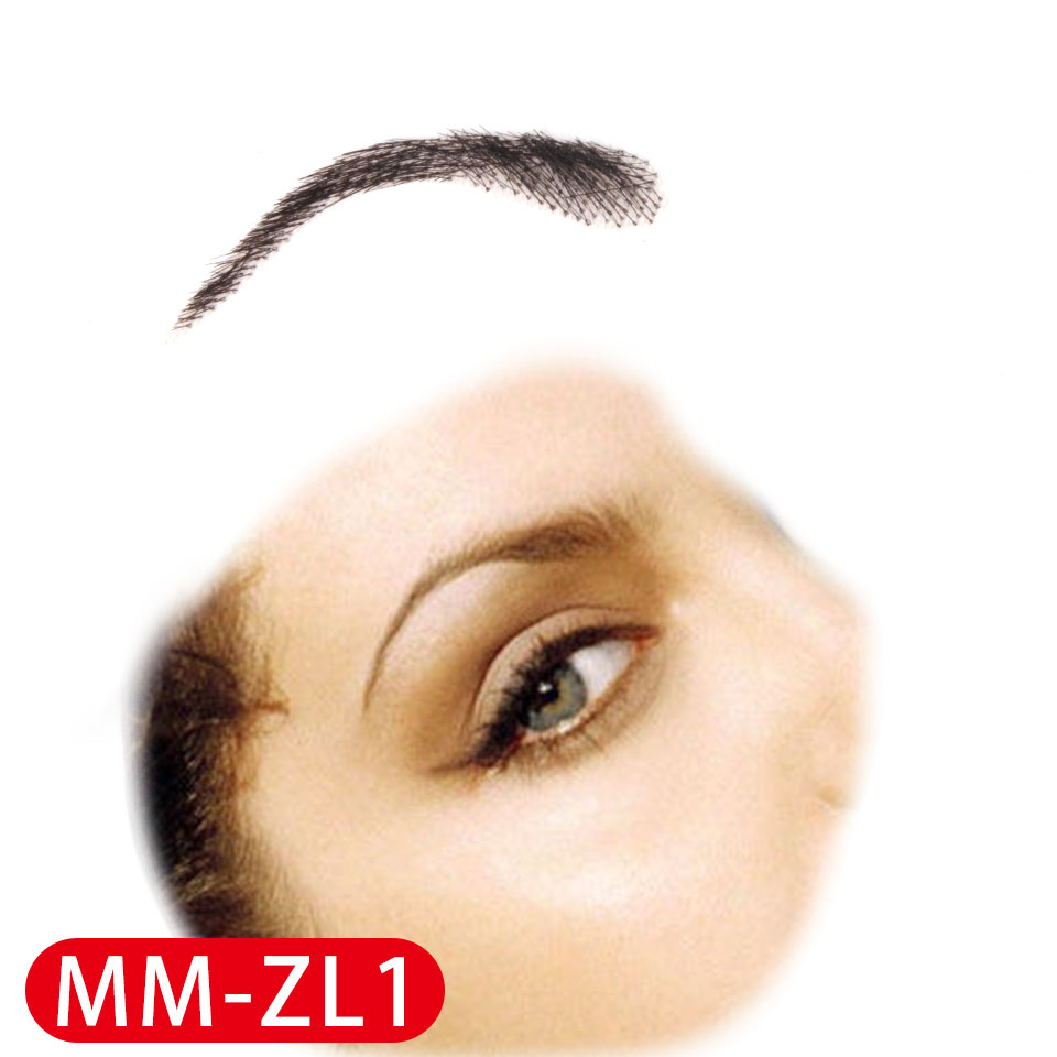 Image 5 - Pageup Handmade False Eyebrows For Women Made By 100% Real Hair For Party Wedding Cosplay Star Fake Eyebrow Synthetic EyebrowsSynthetic Weave   -