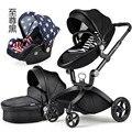 Europeos Cochecitos de Bebé, Cochecito de Bebé 3 en 1, De Lujo Del Bebé Cochecito Paisaje de Alta Niño Recién Nacido Cochecitos sillas de paseo para Seguridad Asiento de coche