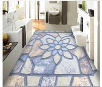Custom photo wallpaper 3d flooring Waterproof self adhesion murals European pattern parquet background floor wallpaper Stickers
