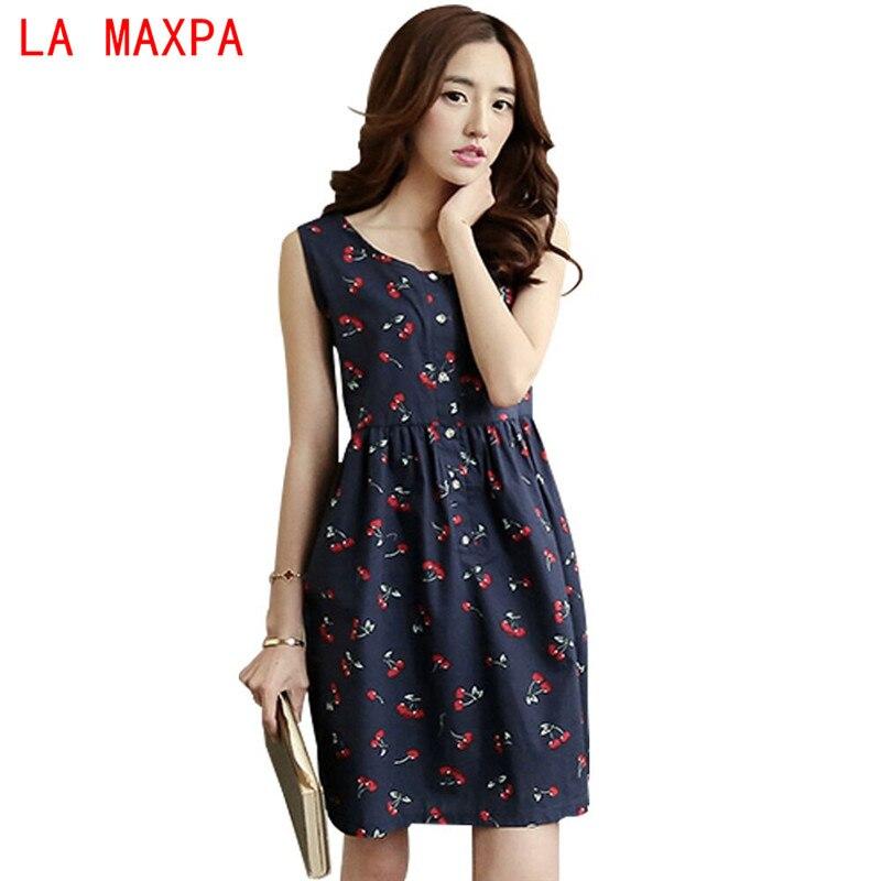 2017 verano estilo casual algodón de las mujeres vestidos de mujer nueva moda de