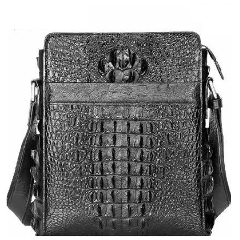 ouluoer New Thai crocodile skins Single shoulder men bag man European and American cross-bag business casual real leather bag