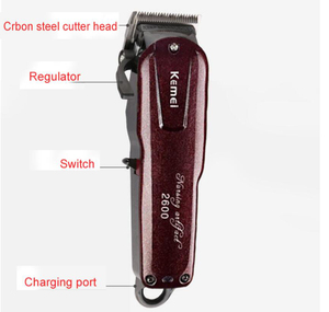 Image 2 - Kemei Professional Electric Hair Trimmer Powerful Cordless Adjustable Clipper Shaver Razor Hair Cutting Machine With Limit Comb