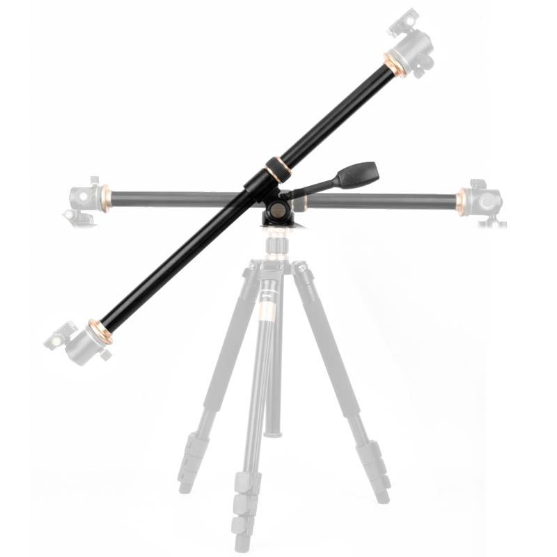 61cm/24 Tripod Boom Cross Extension Arm Horizontal Rod Camera Mount Rotatable Multi Angle Center Column Tripod Tube Accessory
