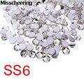 Ss6 Strass Unhas Decorações, 1440 pçs/lote Top Quality Crystal Clear Non Hotfix Flatback Pedras Glitter, Roupas Suprimentos Unhas