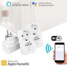 Timethinker 3 шт. умная wi-fi-розетка HomKit розетка приложение дистанционное управление Великобритания AU США ЕС вилка для Apple Homekit Siri ALexa Google Home