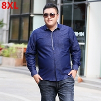Autumn Tide Brand Large Size Men S Long Sleeved Shirt Casual Wild Plus Fat To Increase