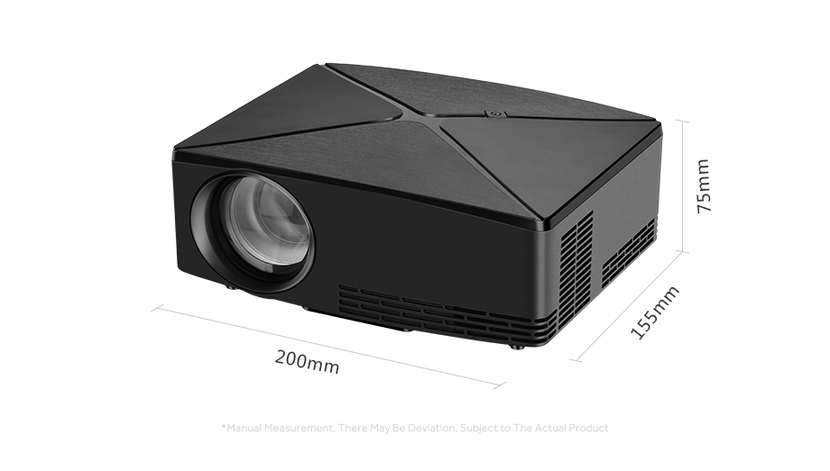 AUN C80/C80UP Android WIFI Mini Projector With 1280x720 Pixels Resolution and 3D Beamer 20