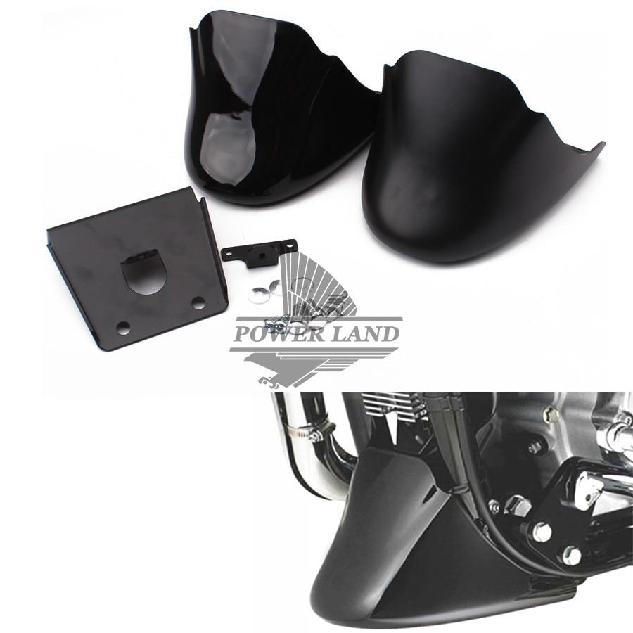 1set Matt/Gloss Black Motorcycle Chin Fairing Engine Bottom Mudguard Front Spoiler Fender Cover For Harley Sportster XL883 1200