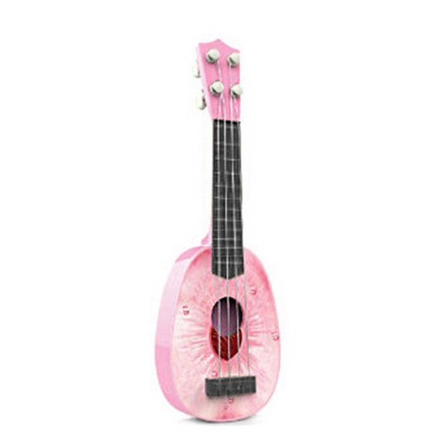 Brinquedos da moda Novas Crianças Aprender A Tocar Guitarra Ukulele Mini Frutas Podem Tocar Instrumentos Musicais Brinquedos Venda Quente Transporte Livre