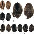 25 см зажим в коготь на хвостики шиньоны расширение волосы прядь небольшой шнурок хвост синтетические парики хвост вьющиеся Wiglets