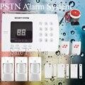 Frete grátis 2 PCS controle remoto 3 pcs PIR magnético Da Porta de Segurança Sem Fio Em Casa sistema de alarme pstn 433 mhz Branco sistema de alarme