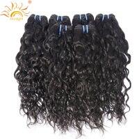 Sunlight Human Hair Water Wave Brazilian Hair Weave Bundles 100 Human Hair Weft 1 Piece Only