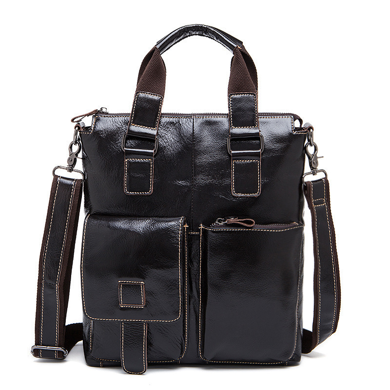 2018 Men Bag Genuine Leather Briefcases For male Leather business Ipad Bags Crossbody Bags For Mens Messenger shoulder Bags