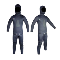9mm Open Cell CR Neoprene Spear Fishing Wetsuit Keep Warm Wetsuit In 2 Pieces