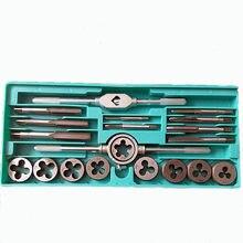 Liga de aço torneiras e dados conjunto m3 mm12 rosca & torneira chave & morrer chave manual métrica rosqueamento kit ferramenta conjunto