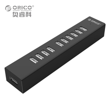 10 Порта USB 2.0 ХАБ для MAC Ноутбук Отлично с 100 СМ Кабель для Передачи Данных-Черный/Белый