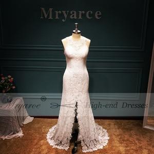 Image 2 - Mryarce vestido elegante Bohemia boda, espalda abierta, encaje elástico suave, favorecedor, abertura frontal, novia Bohemia