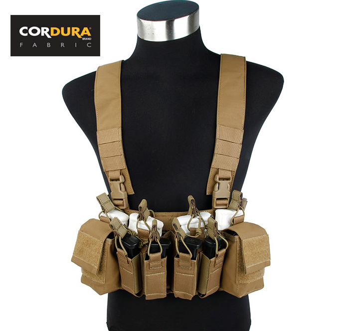 Codura D3 CRX Chest Rig Coyote Brown Tactical Light Weight Combat Gear+Free shipping(STG050943)