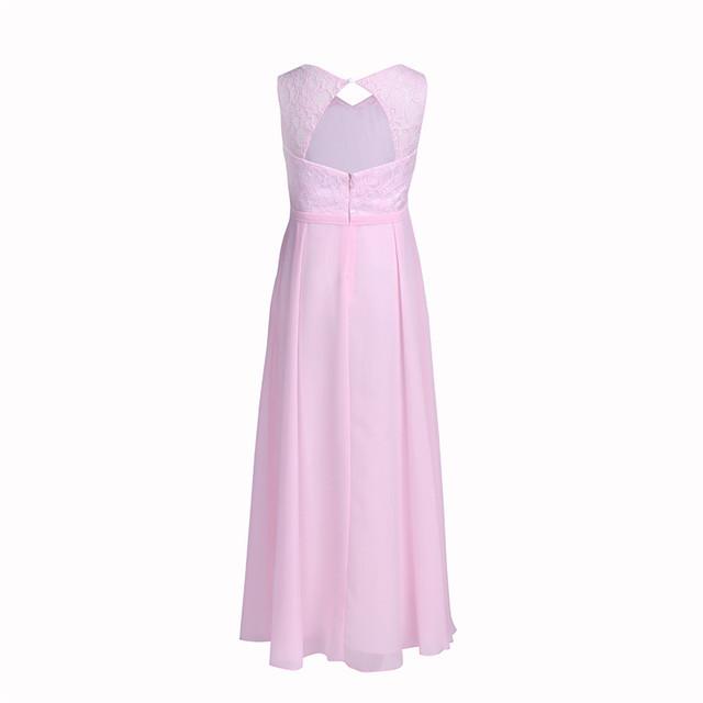 Cutout Back Chiffon Flower Girl Dress