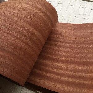 Image 4 - Chapa de madera auténtica Natural en lonchas Sapele, 27 60cm, 2,5 M, chapas para muebles, instrumento Musical, equipo de Audio Q/C