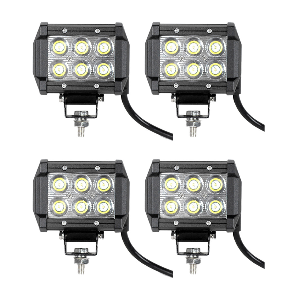 6000K IP 67 Waterproof Rate LED 18W Light Bar Spot Beam Offroad Boat Car Truck Driving Lamp