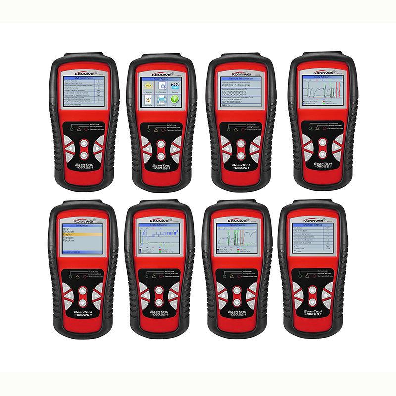 2017 Scanner Automotive KW830 OBD2 EOBD Car Fault Code Reader Diagnostic Scan Tool Can Test Battery PK Ancel AD310 ELM327 V1.5 free shippinng diy om580 obd scanner automotive obd2 eobd car code reader for engine abs dsc srs fault diagnostic tool