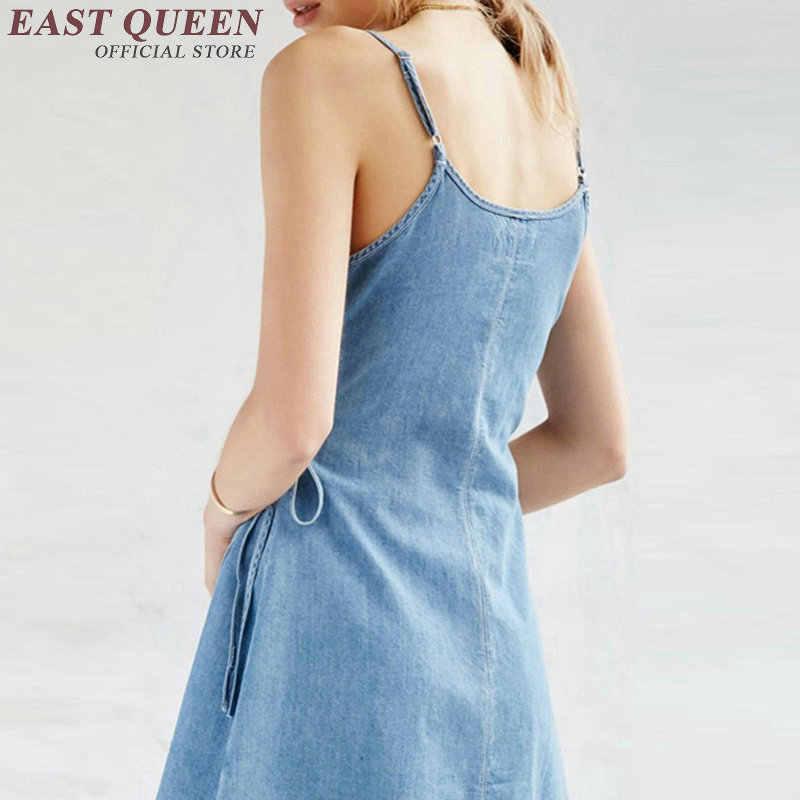 04f7933d51e ... 2018 denim dress blue sexy denim sundress women female jeans sundress  ladies summer style sundresses for ...