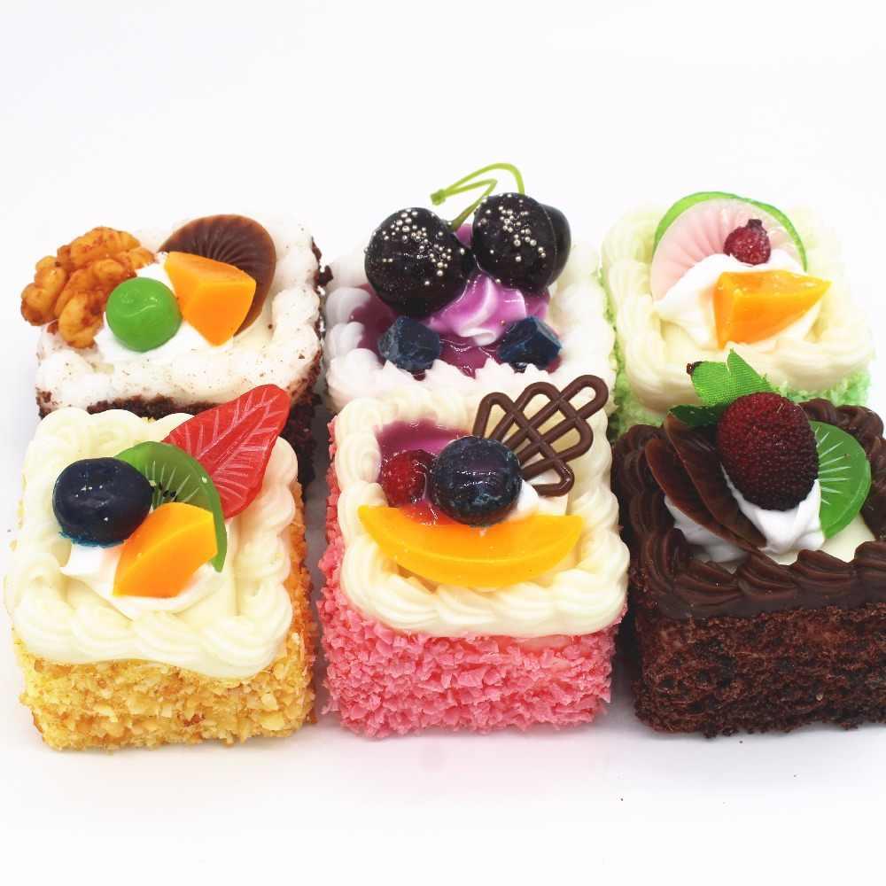 Artificial Heart Sharp Cake Model Set Resturant Decoration Artificial Cake  Children Teaching Props