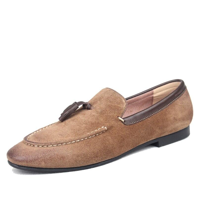 Ayakk.'ten Oksford'de Moda Erkek Brogues erkek ayakkabısı Moccasins Ayakkabı günlük erkek ayakkabısı Daireler Kayma Vintage Püskül deri ayakkabı'da  Grup 1