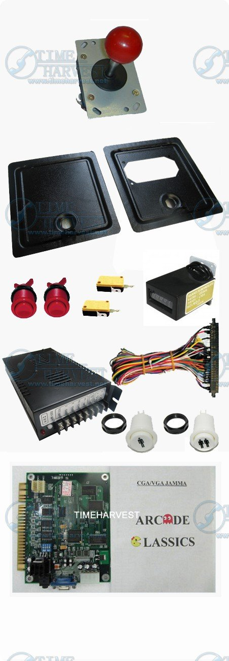 Arcade parts Bundles kits With 60 in 1 game PCB Joystick Buttons Coin door Jamma harness to Build Up Arcade Machine By Yourself twister family board game that ties you up in knots