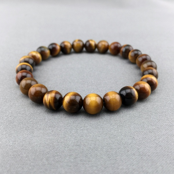 2017 Time limited Trendy Women Stone Snake Chain New Fashion 10mm High Quality Tiger Eye Beaded Stretch Bracelet Man Jewelry