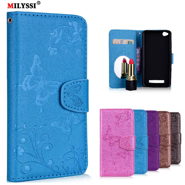 reputable site cf199 48b72 US $2.72 9% OFF Mirror Case For Xiaomi Redmi A4 Case Redmi 4A 4 A Case  Luxury Leather Wallet Flip Cover Case for Xiaomi Redmi 4A-in Wallet Cases  from ...