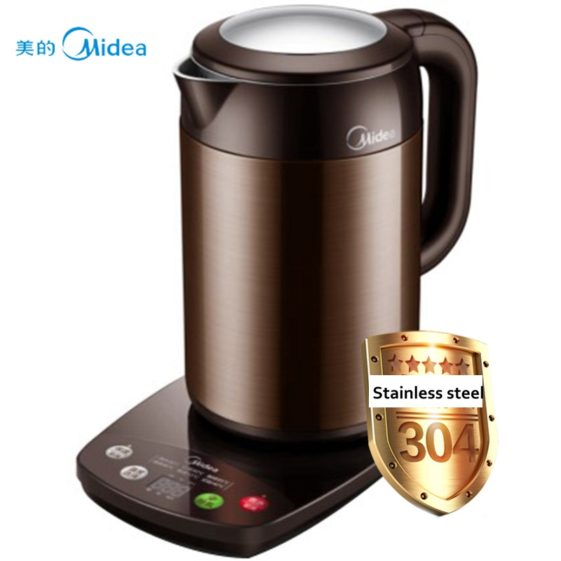220V Midea Electric Kettle Heat Preservation Scald Kettles 304 Stainless Steel Boiled Tea Pot MK-HE1702 electric kettle midea mk 8080