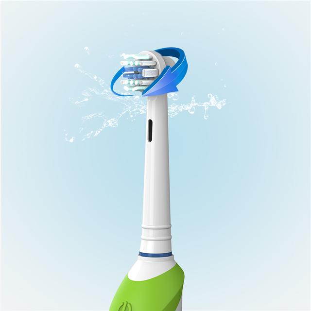 Versión adulta de suave no hace daño a los dientes del cepillo de dientes eléctrico 360 rotativo esterilización antibacterial cepillo de dientes de Color al azar