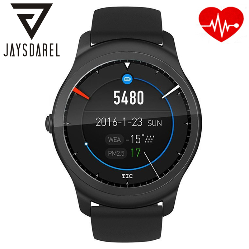 JAYSDAREL Heart Rate Monitor Smart Watch Ticwatch 2 GPS Wireless Charging Music Bluetooth Smart Wristwatch for Android iOs jaysdarel heart rate blood pressure monitor smart watch no 1 gs8 sim card sms call bluetooth smart wristwatch for android ios