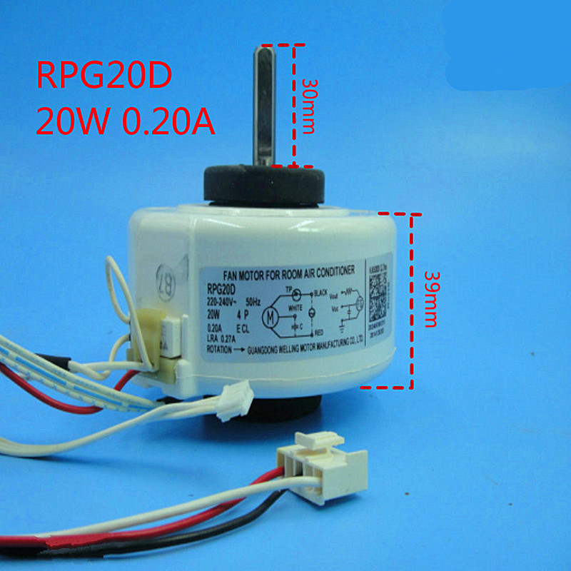 1pcs original all new air conditioning fan motor RPG20D 20W Air Conditioner Parts 95% new original for midea air conditioning fan motor ydk36 4c a ydk36 4g 8 4g 8 36w direction of departure