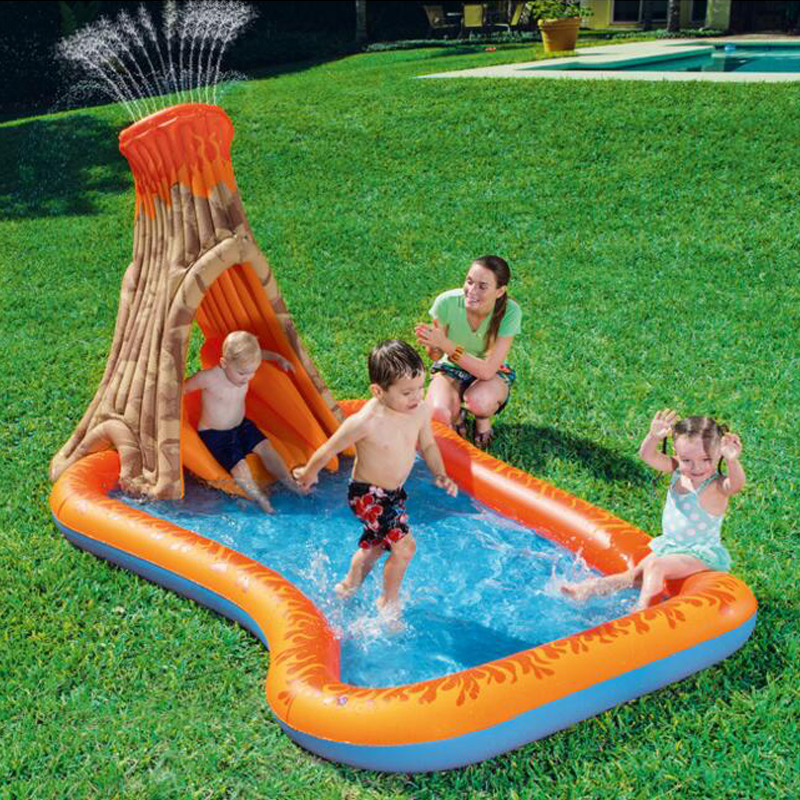 Volcanic shape inflatable baby ocean ball pool play thickening fishing swimming pool children swimming pool race ball pool ocean ball pool inflatable toys ocean ball blower