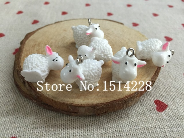Mina Free shipping!  Cute animal charms.3D resin lovely cow with pink ear pendant for key chain/phone decoration,DIY.