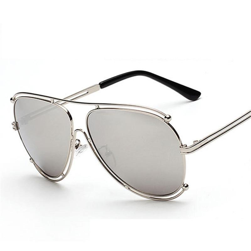 6ab5b99a24c0 2016 New Fashion Women Aviator Sunglasses Men brand designer Metal Frame Sunglasses  Flat Coating Mirror Lens Oculos de sol-in Sunglasses from Apparel ...